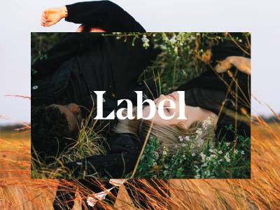Label photography art direction branding website fashion
