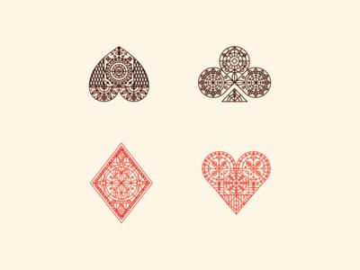Animal Kingdom jack queen king diamond spade ace heart playing cards monoline illustration animal kingdom
