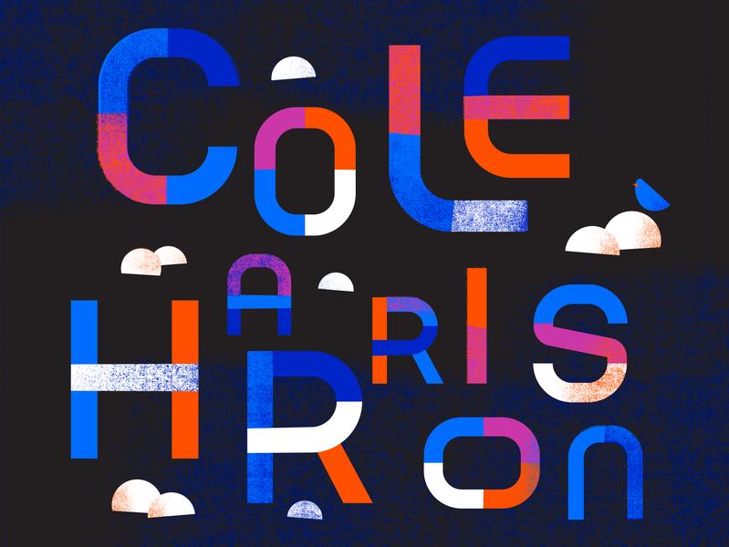 Gig Poster illustration poster font design design