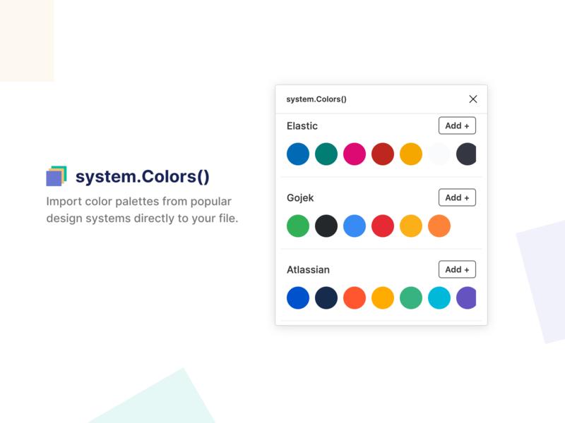 system.colors() design-system brand colors plugin figma
