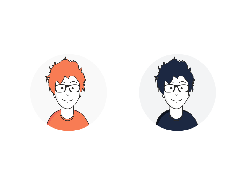 Personal Avatar Exploration illustration boy human geek portfolio vector picture display avatar