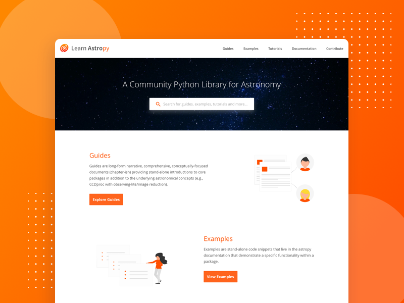 Learn Astropy Landing Page by Abhishek Sharma on Dribbble