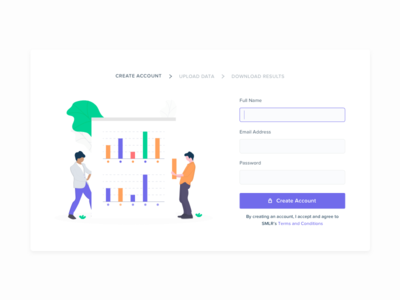 Create an Account design interface ux ui minimal flow illustration sign in create sign up