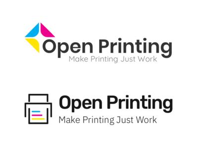 Open Printing Logo Explorations open source exploration logo design printing printer logo