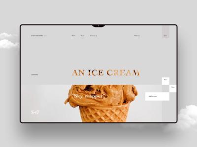 Ice cream shop landing page
