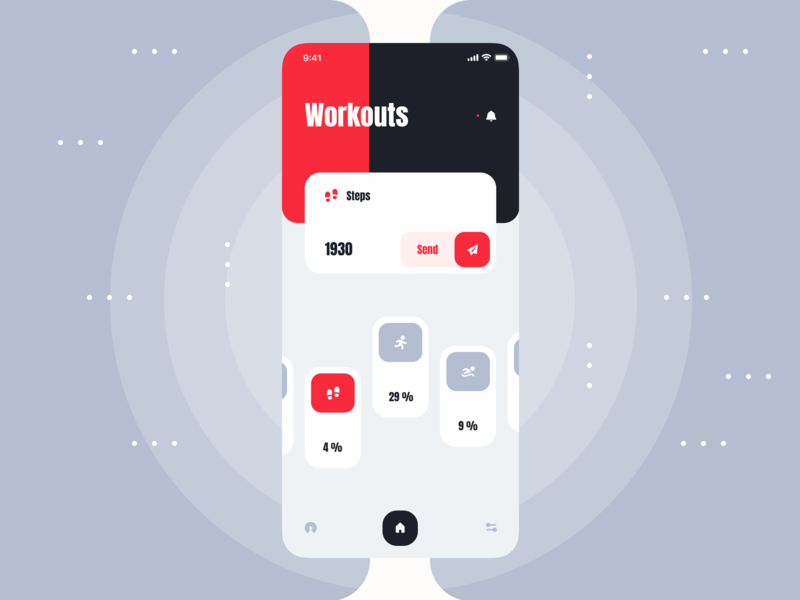 Workouts design luxury layout minimal figma sketch type flat icon typography vector application experience android interface mobile ios app ux ui