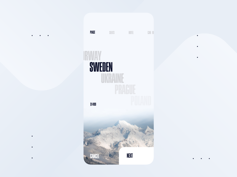 Tourist app figma sketch type website vector luxury flat minimal typography design application experience android interface mobile ios app web ux ui