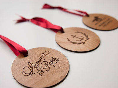 Wood Holiday Ornaments
