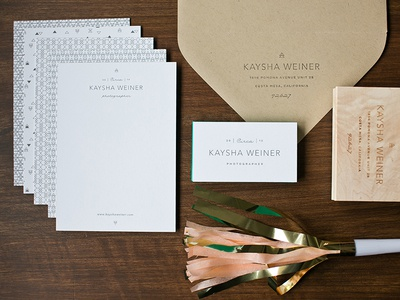Kaysha's Stationery Suite
