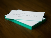 Edged Business Cards