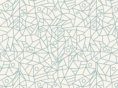 Geometric Feather Pattern