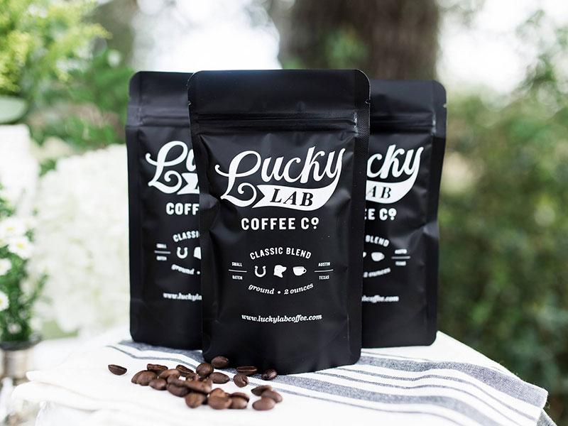 Lucky Little Coffee Bags austin lucky logo design packaging branding coffee braizen