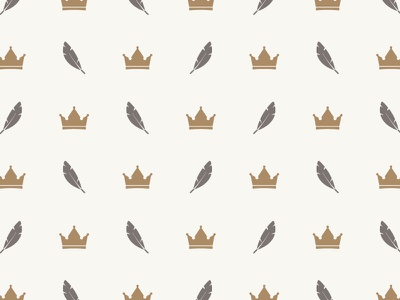 Crown & Feather Pattern photographer braizen branding pattern icon feather crown