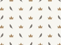 Crown & Feather Pattern
