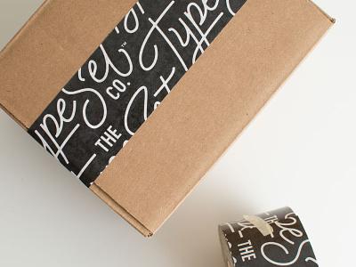 The Type Set Co. Tape logo packaging branding braizen sticker mule tape