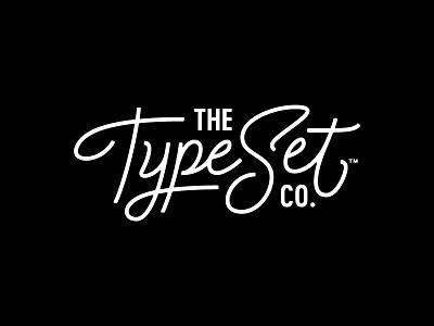 The Type Set Co. Logo lettering branding logo