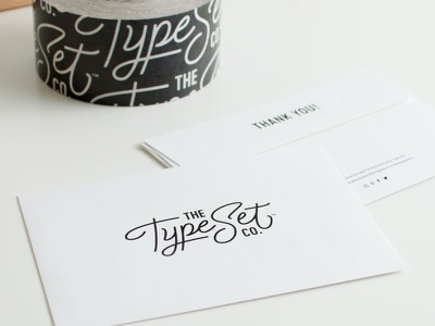 The Type Set Co. Receipt Envelope braizen logo branding tape envelope print collateral