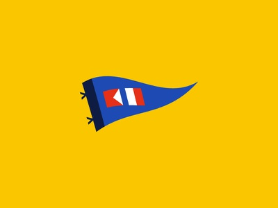 Becket Hitch Pennant Icon flag sailing logo branding pennant