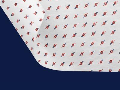 Becket Hitch Tissue Paper logomark tissue paper branding knot