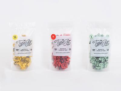 Almost Like Candy alphabet magnets packaging logo branding braizen