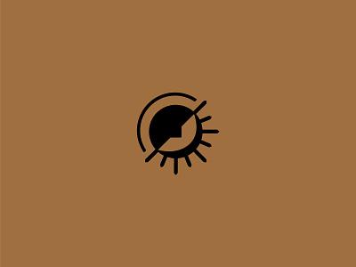 Sun Sign Mark braizen logomark branding logo moon sun astrology