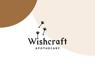 Wishcraft Apothecary Logo dandelion branding logo braizen