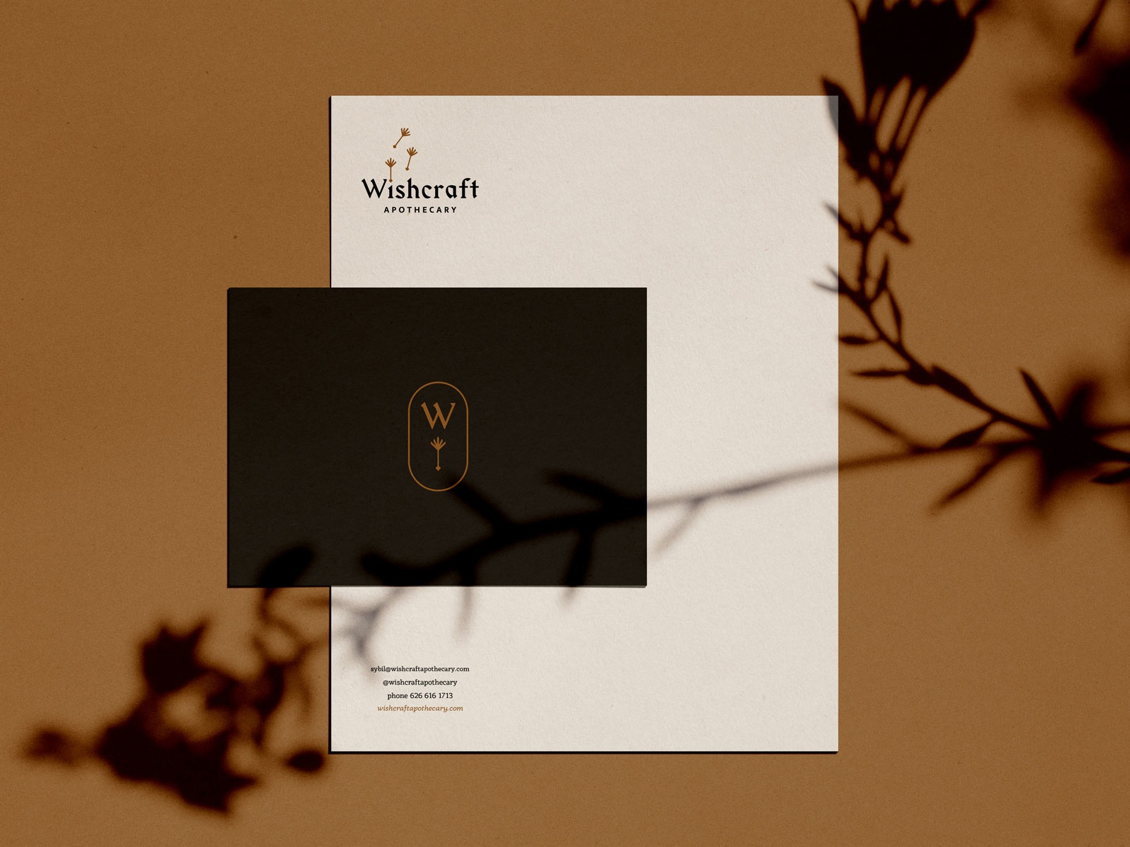 Wishcraft stationery mockup