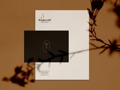 Wishcraft Stationery Mockup dandelion logo branding braizen stationery