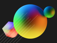 Shapes / Color branding abstract portfolio vibrant colorful primary blender 3d