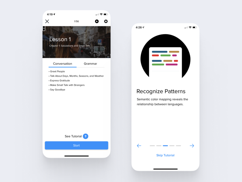 Activity Tutorials & Consistency web android ios illustrations consistency activity language learning tutorials tutorial