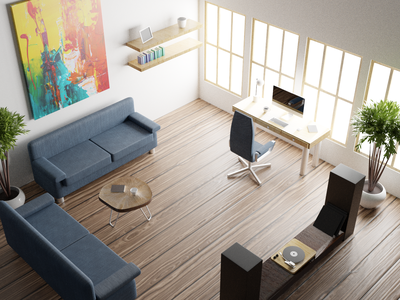 Office Scene learning render realism runway polygon blender tutorial illustration 3d