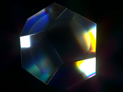 Prismatic Pulse dispersion spectrum spectral render 3d octanerender octane cinema4d c4d perfect loop scratches crystal gem caustics prism
