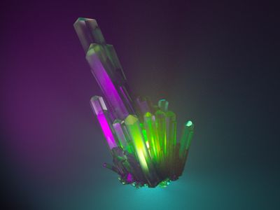 Kryptonite Caustics caustics volumetrics red fog purple green kryptonite superman crystal arnoldrender arnold 3d art autodesk autodeskmaya maya octanerender octane 3d