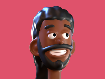 Branden colorful cartoony headshot octane cinema4d 3dart 3d character stylized portrait
