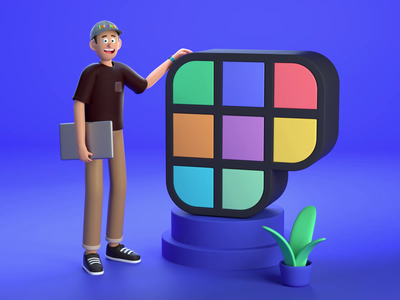 I'm joining Polywork announcement team job animation logo colorful polywork character illustration clean octane c4d 3d