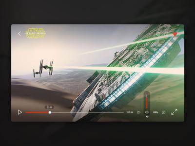 Video Player psd freebie space sci-fi simple budicon minimal star wars video player video player