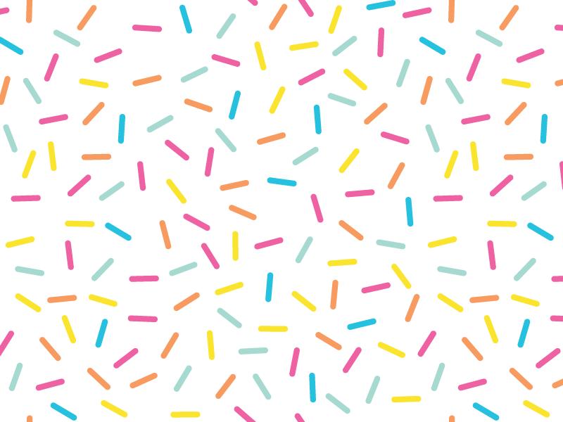 Sprinkles Pattern by Jennie Dalgren - Dribbble