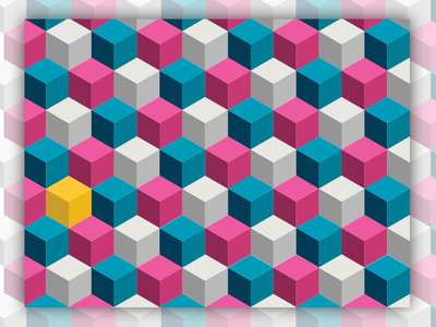 Repeating cube patterns by Jennie Dalgren - Dribbble
