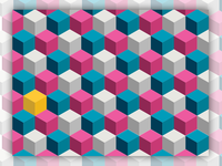 Repeating cube patterns