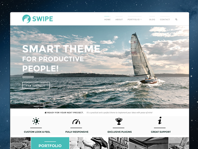 Swipe Portfolio Theme grid flat wordpress typography theme clean template pixelgrade responsive themeforest slider patchwork