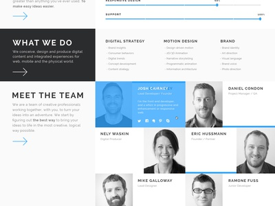 Fuse - About Page theme pixelgrade page about flat patchwork grid responsive wordpress template clean gif