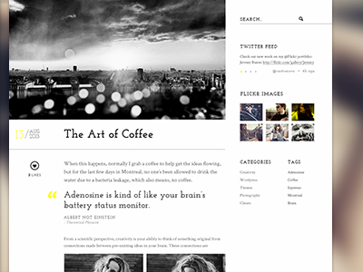 Lens - Blog Article Page pixelgrade themeforest photography blog article typography wordpress fonts