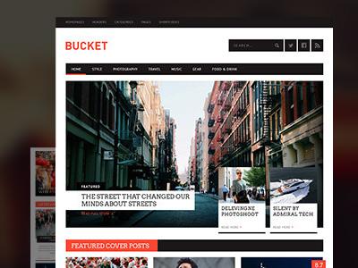 Bucket pixelgrade themeforest magazine blog article typography wordpress fonts clean animation ui launch