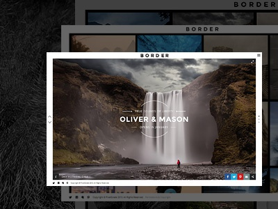 Border Photography Website pixelgrade wordpress theme photography template ui gallery ux responsive