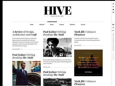 HIVE Magazine masonry pixelgrade wordpress theme fashion magazine typography fonts blog elegant