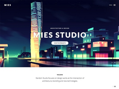 MIES Architecture Website pixelgrade wordpress theme architecture parallax fullscreen site fonts typography layout cover white-space