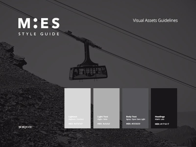 MIES Style Guide ui style guide guidelines spec pixelgrade themes wordpress fonts typography spacing colors