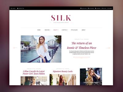 SILK Fashion Blog fashion blog pixelgrade wordpress theme typography magazine elegant masonry fonts
