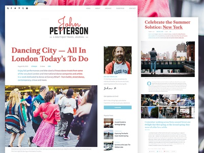 Jason Blog Theme blue red colorful fonts journal blog typography theme wordpress pixelgrade