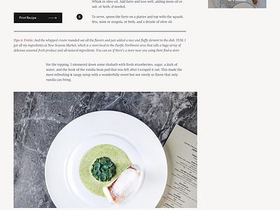 Julia Food Blog Theme pixelgrade theme wordpress typography recipe journal food blog
